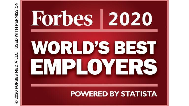 Forbes, meilleur employeur 2020